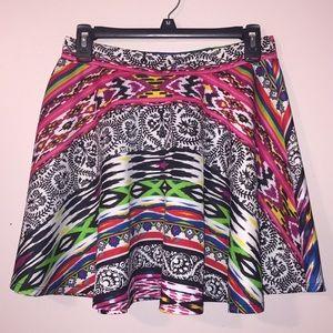 Colorful skater skirt